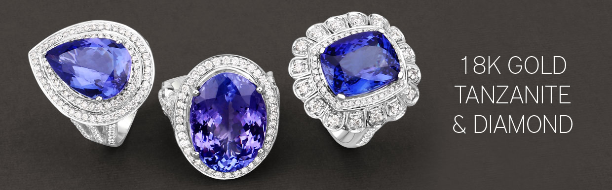14K Gold Tanzanite Jewelry